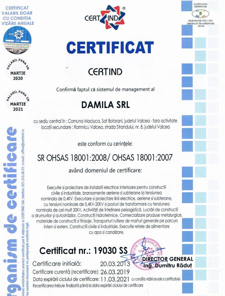 Certificat-SSO-Damila-2019